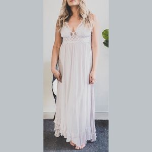 Coming Soon! Free People Silver Adella Maxi Dress